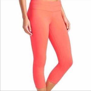 Athleta Neon Orange Sonar Capri Legging